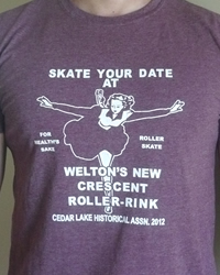 Skate Your Date t-shirt (maroon)